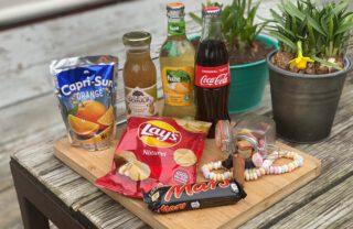 picknickmand foto's snoep koek ernst